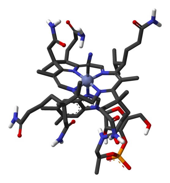 B12 vitamin kémiai szerkezete